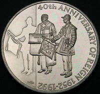 FALKLAND ISLANDS 50 PENCE 1992 PROOF   ANNIVERSARY OF THE AC