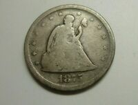 1875 S SEATED LIBERTY 20 CENT PIECE 90  SILVER