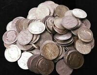 LOT OF 100 SILVER ROOSEVELT DIMES 1940'S 1950'S 1960'S  $10