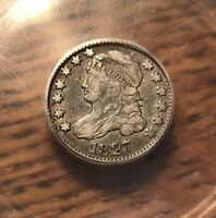 1827 CAPPED BUST DIME ICG VF 30