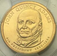 2008 JOHN QUINCY ADAMS DOLLAR MISSING EDGE LETTERS PCGS MINT STATE 65