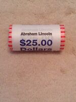 2009 ABRAHAM LINCOLN PRESIDENTIAL DOLLAR COIN ROLL UNOPENED UNCIRCULATED