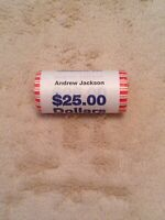 2008 ANDREW JACKSON PRESIDENTIAL DOLLAR COIN ROLL UNOPENED UNCIRCULATED