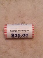 2007 GEORGE WASHINGTON PRESIDENTIAL DOLLAR COIN ROLL UNOPENED UNCIRCULATED
