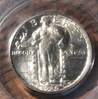 1926 D STANDING QUARTER PCGS MINT STATE 63