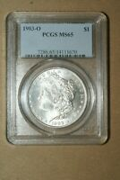 1903-O MORGAN SILVER DOLLAR CERTIFIED PCGS MINT STATE 65  M-40