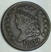 AWESOME 1809 CLASSIC HEAD HALF CENT   CHECK IT OUT