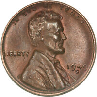 1949 S LINCOLN WHEAT CENT ABOUT UNCIRCULATED PENNY AU