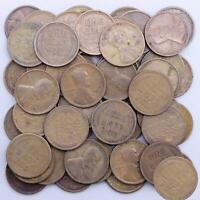 1921 LINCOLN WHEAT CENT ROLL 50 CIRCULATED PENNIES US COINS