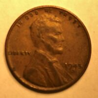 1945 S 1C LINCOLN WHEAT CENT PENNY US COIN AVERAGE CIRCULATED