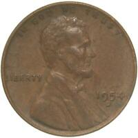 1954 D LINCOLN WHEAT CENT EXTRA FINE PENNY EXTRA FINE