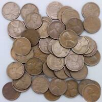 1923 S LINCOLN WHEAT CENT ROLL 50 CIRCULATED PENNIES US COINS