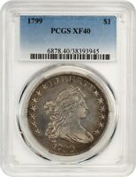 1799 $1 PCGS EXTRA FINE 40 - GREAT BUST DOLLAR TYPE COIN - BUST SILVER DOLLAR