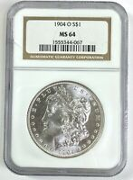 NGC MINT STATE 64 1904-O MORGAN SILVER DOLLAR - BROWN LABEL LC328