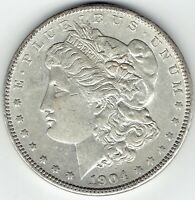 1904-P $1 MORGAN SILVER DOLLAR UNDERRATED DATE, LOTS OF DETAIL