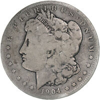 1904 MORGAN SILVER DOLLAR  GOOD VG