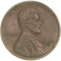 1933 D LINCOLN WHEAT CENT EXTRA FINE PENNY EXTRA FINE