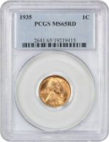 1935 1C PCGS MINT STATE 65 RD - LINCOLN CENT