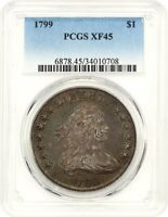 1799 $1 PCGS EXTRA FINE 45 - GREAT BUST DOLLAR TYPE COIN - BUST SILVER DOLLAR