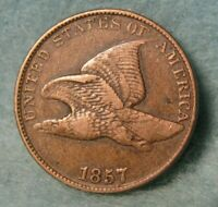 1857 FLYING EAGLE PENNY SMALL CENT BETTER GRADE   UNITED STA