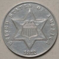 1872 3 CENT SILVER   EXTRA RARE ISSUE   LOW MINTAGE 1 000 PR