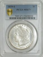 1879-S MORGAN DOLLAR $ MINT STATE 67 SECURE PLUS PCGS 942887-96
