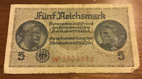 GERMANY BANKNOTE. 5 REICHSMARK. DATED 1940. PICK R138. COLLECTIBLE NOTE.