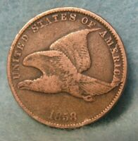 1858 SL FLYING EAGLE PENNY SMALL CENT   UNITED STATES COIN