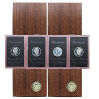 1971-1974 S PROOF EISENHOWER 4 BROWN BOX LOT IKE DOLLAR 40 SILVER US COIN