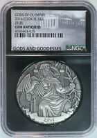 2016 COOK ISLANDS ZEUS $2 2OZ .999 SILVER GODS OF OLYMPUS HR