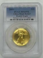 2009 US $20 ULTRA HIGH RELIEF DOUBLE EAGLE PCGS MS69PL