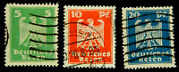 GERMAN EMPIRE 1924 / EAGLES NEW DAILY  /  SET OF 3  SC331 332 333 /USED