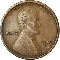 [760192] COIN, UNITED STATES, LINCOLN CENT, CENT, 1918, U.S. MINT, SAN