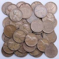 1952 D LINCOLN WHEAT CENT ROLL 50 CIRCULATED PENNIES US COINS