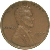 1937 LINCOLN WHEAT CENT EXTRA FINE PENNY EXTRA FINE