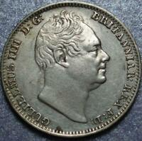 1835 GREAT BRITAIN SILVER FOUR PENCE OR GROAT OF KING WILLIA