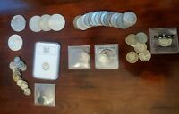 ESTATE LOT OF OLD SILVER COINS   1881 1964   MOSTLY CIRCULAT