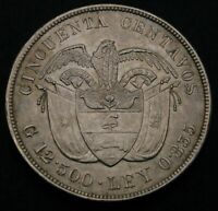 COLOMBIA 50 CENTAVOS 1892   SILVER   COLUMBUS' DISCOVERY OF AMERICA   1797