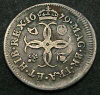 GREAT BRITAIN 4 PENCE 1679   SILVER    CHARLES II.   VF   27