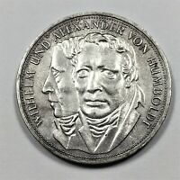 1967 F GERMANY 5 MARKS COIN SILVER KM 120.1 UNC.