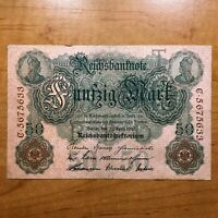 1910 GERMANY 50 MARKS BANKNOTE GERMAN EMPIRE PICK 41