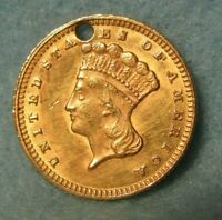 1874 INDIAN PRINCESS $1 ONE DOLLAR UNITED STATES GOLD COIN H