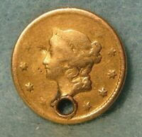 1849 O LIBERTY HEAD $1 ONE DOLLAR UNITED STATES GOLD COIN CI