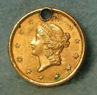 1853 LIBERTY HEAD $1 ONE DOLLAR UNITED STATES GOLD COIN SHAR