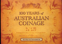 2010 FOUR X AUSTRALIAN COINAGE  DOLLARS WITH MINTMARKS  FROM