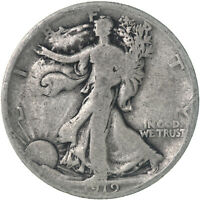 1919 WALKING LIBERTY HALF DOLLAR 90 SILVER GOOD GD