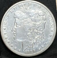 1879 CC MORGAN SILVER DOLLAR NGC EXTRA FINE 45  SOLID CARSON CITY MINT COIN -LOOKS AU