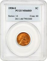 1930-S 1C PCGS MINT STATE 66 RD - LINCOLN CENT