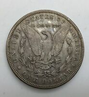 1896  S MORGAN DOLLAR  MID GRADE GREY COLOURATION SEMI KEY DATE PLEASING REVERSE