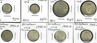 $US PHILIPPINES SILVER COIN COLLECTION AU BU